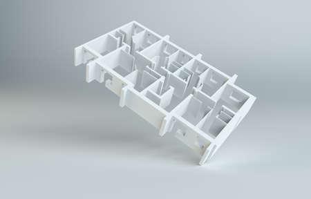Abstracte witte vloer. Bovenaanzicht Stockfoto - 79415241