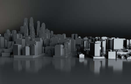 Black abstract city