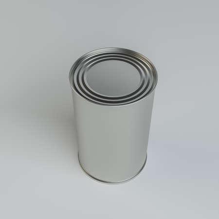 tin: Metal tin can