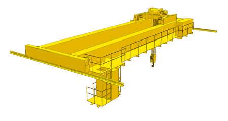 Factory overhead crane 向量圖像