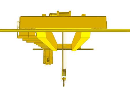 Factory overhead crane Çizim