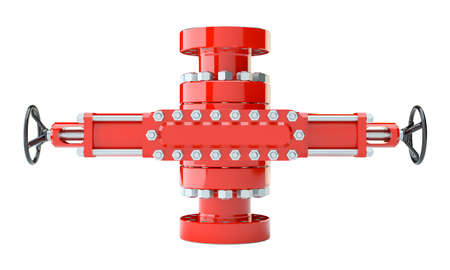 Blowout preventer, isolated Stock Photo