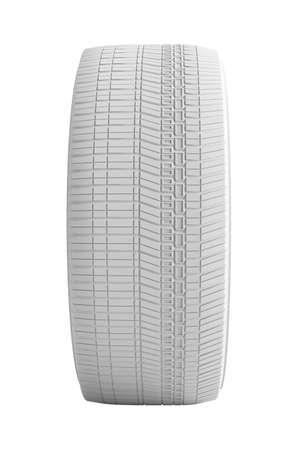 tire cover: White Car Wheel on White