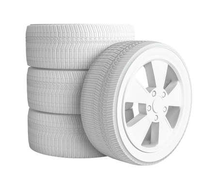 Closeup of white tires