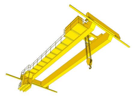 Factory overhead crane.