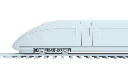 highspeed: White high-speed train Stock Photo