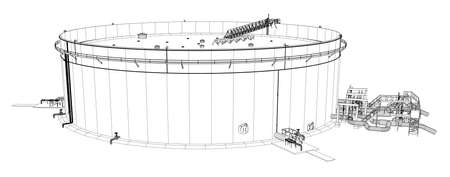 Wire-frame oil tank
