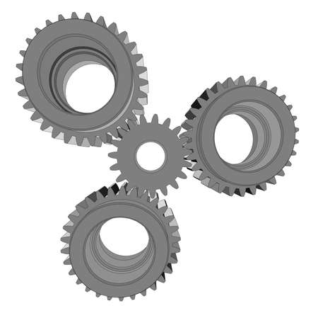 Metal cog wheel