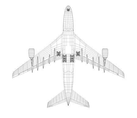 780 Aeroplane Wireframe Stock Illustrations Cliparts And Royalty
