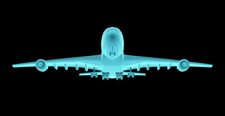 Airplane. Xray image