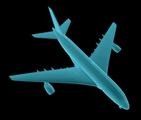 Airplane. Xray image