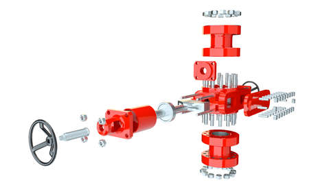 Blowout preventer, isolated 版權商用圖片