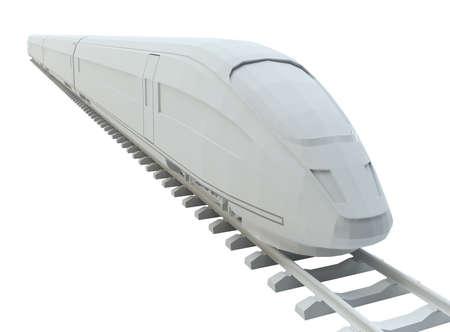 White high-speed train Stock Photo