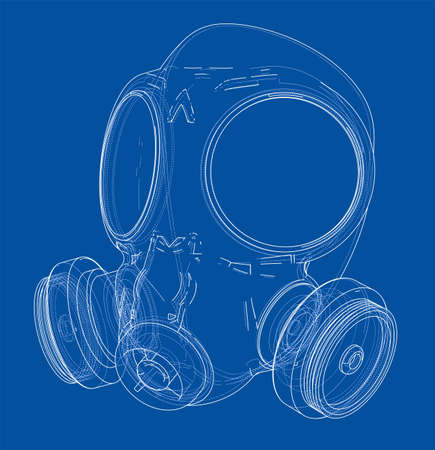 Gas mask sketch.