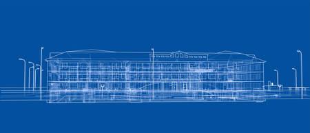 Abstract building Vector Vector Illustration