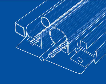 Rolled metal products Vector