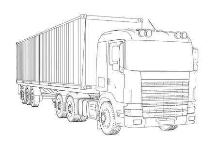 Camion de conteneurs logistique Banque d'images - 86214819