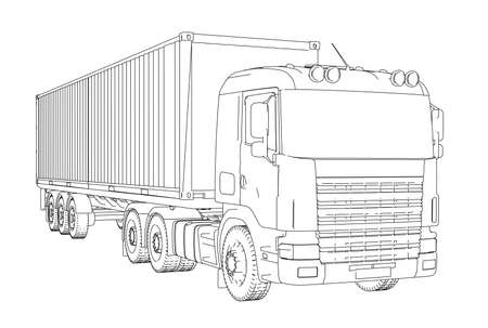Logistics Container truck