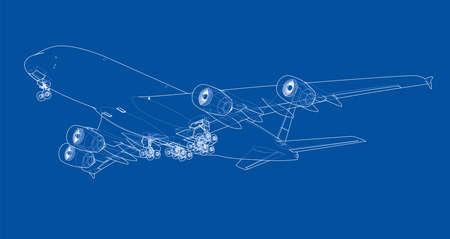Esquema de aviones de pasajeros ilustrado
