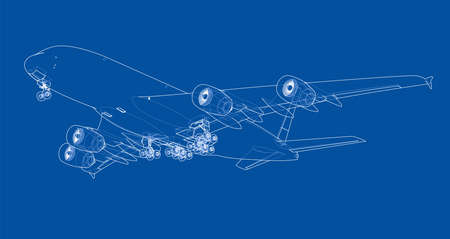 Passenger aircraft outline illustrated