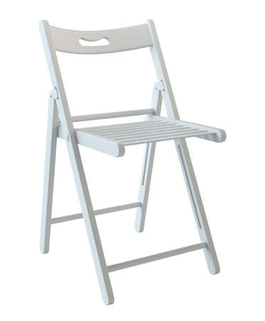 Chaise pliante isolée sur blanc Banque d'images - 86949007