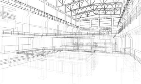 Industriële zone schets. Vector Stockfoto - 87442243