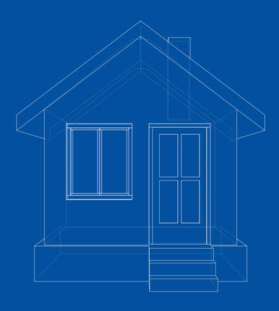 residential: House sketch. Vector