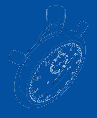 clock: Stopwatch or timer sketch Vector