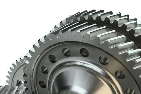 Cog gears mechanism concept. 3d illustration Banco de Imagens