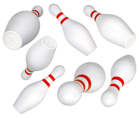 Set of Bowling Pin Stock Photo