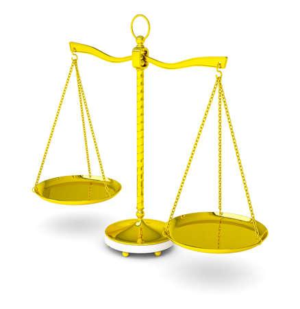 Balance sur fond blanc Banque d'images - 88836484