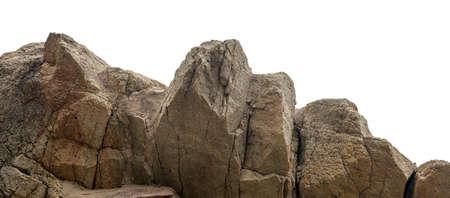 Enorme stenen berg geïsoleerd