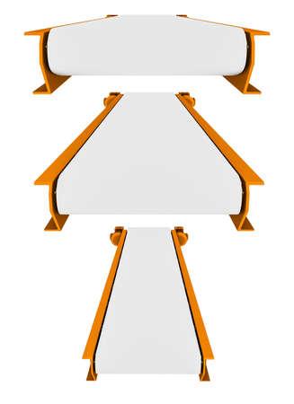 Set of conveyor belt isolated on white background
