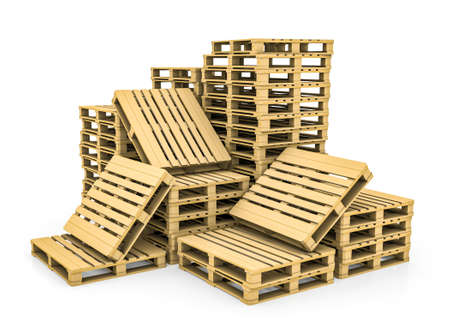 Wooden pallet. Isolated