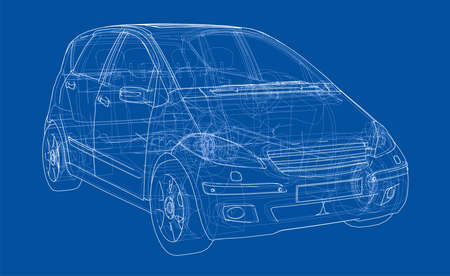 Auto schets. Vector Stock Illustratie
