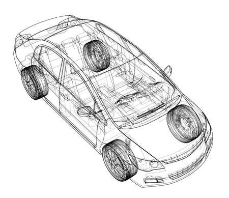 Autoskizze Vektor