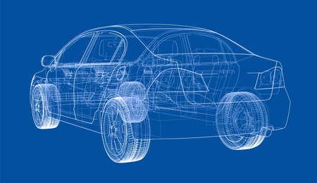 Car sketch. Vector 免版税图像 - 90265367