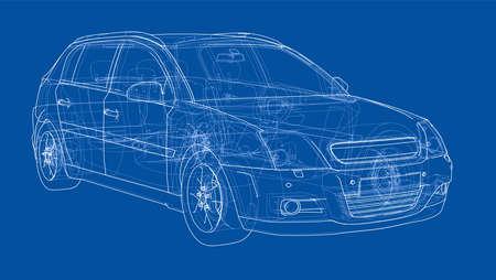 Car sketch. Vector