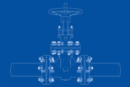 Industrial valve. Vector illustration