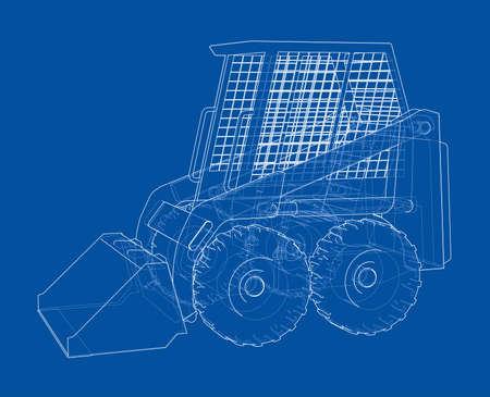 Mini loader. Vector illustration