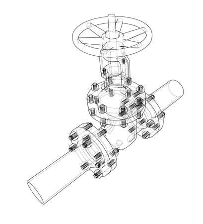 Industrial valve. Vector illustration