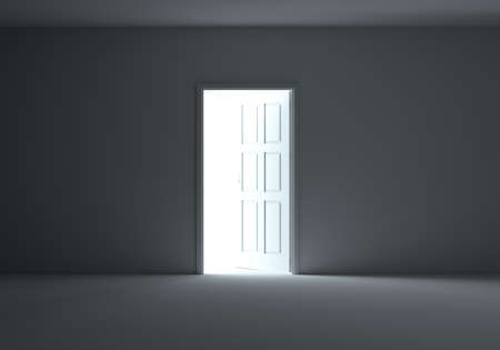 Open door with bright light Stock Photo - 91139682