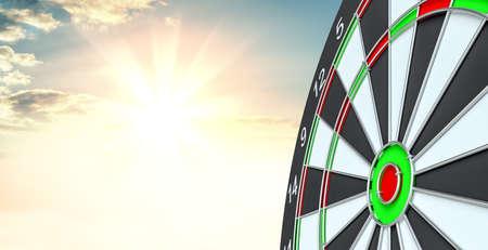 Target dart. 3d illustration Stock Photo