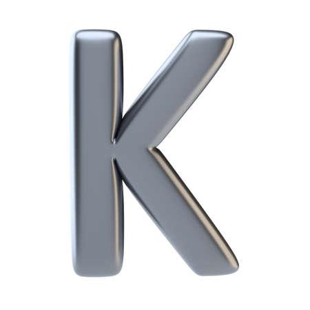 Metal letter uppercase Stock Photo