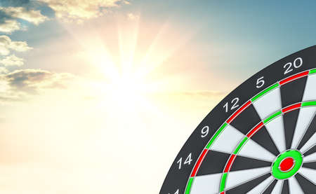 Target dart. 3d illustration Stock Photo