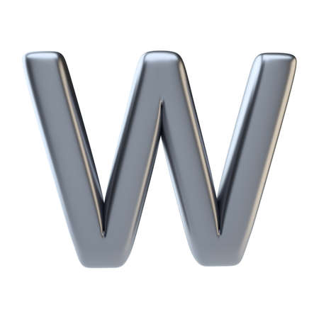 Metal letter uppercase Stock Photo