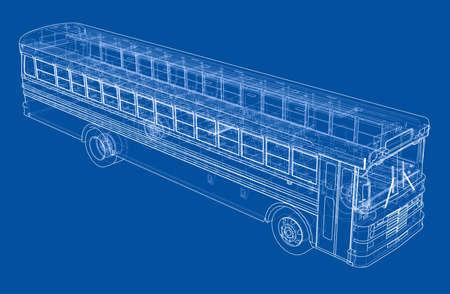 School bus outline vector
