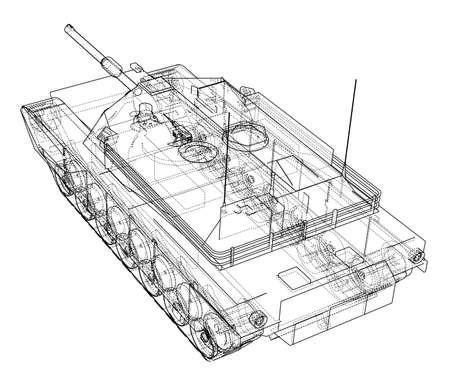 Plano del tanque realista Foto de archivo