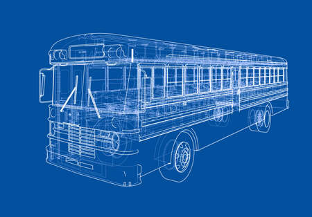 School bus outline Vettoriali