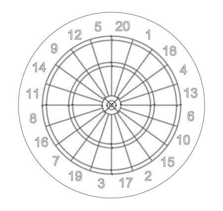 Arrow in target. Vector EPS10 format, rendering of 3d Illustration